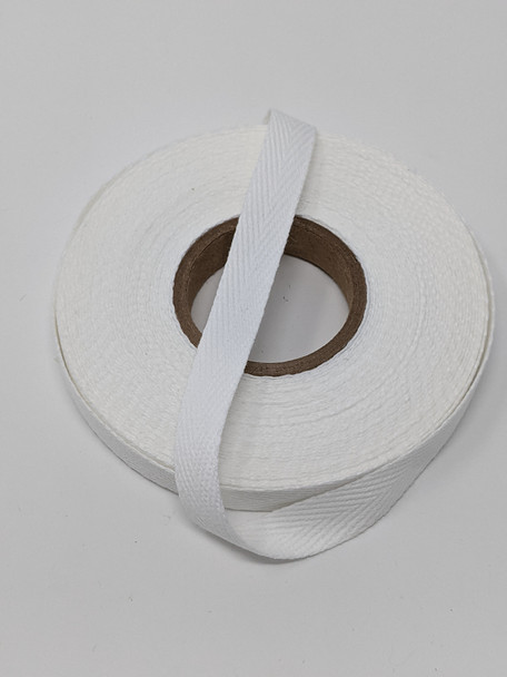 "Heavyweight 1 "" white twill tape, 10 yard roll"