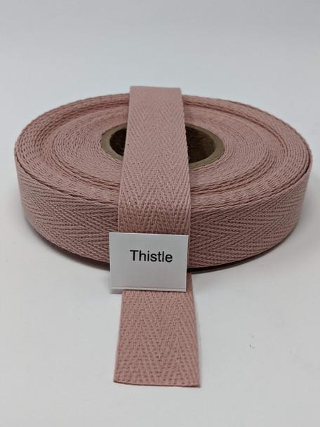 "Cotton Twill Tape 3/4"" Thistle, 10 yard roll"