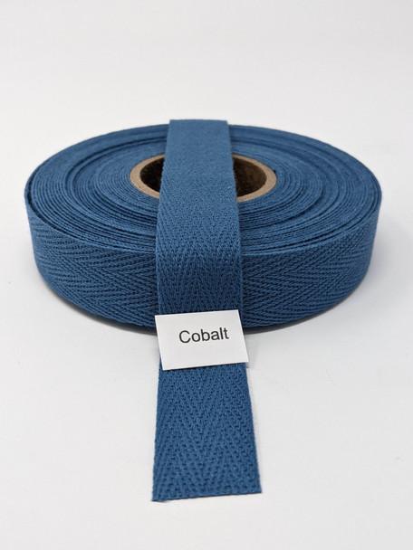 "Cotton Twill Tape 3/4"" Cobalt, 10 yard roll"