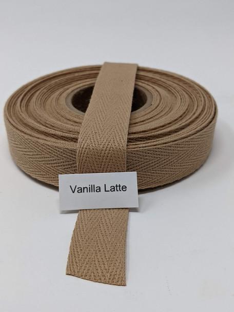 "Cotton Twill Tape 3/4"" Vanilla Latte, 10 yard roll"