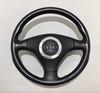 2000-2006 Audi TT Factory Black Leather Steering Wheel w/ Airbag / Manual / T1011