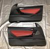 2014-2020 BMW 2 Series Interior Door Panels / Coral Red Dakota Leather / Pair / B2002