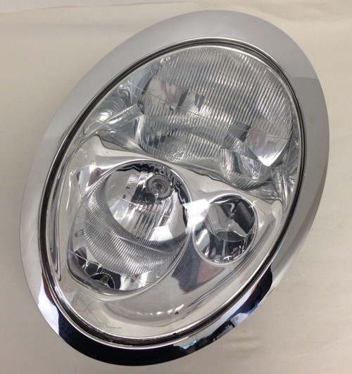 2002-2004 Mini Cooper Driver Headlight Halogen Chrome 63-12-6-911-705 R1001