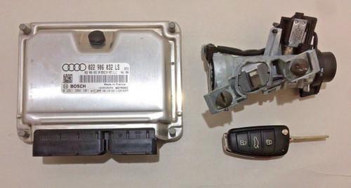 2009 Audi TT ECU & Ignition Switch w/ Key Fob / Mk2 8J / 3.2l VR6 / DSG / T2003