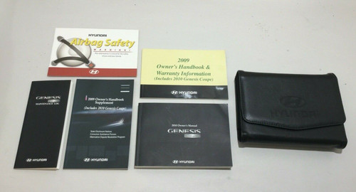 2010 Hyundai Genesis Coupe 3.8 Track Factory Owners Manual w/ Case / HG003