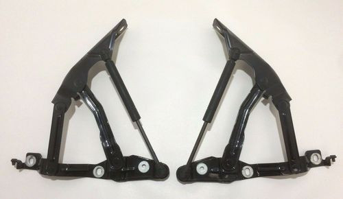 2000-2006 Audi TT Hood Hinges w/ Shocks / Pair / Brilliant Black / T1007a
