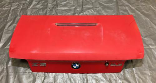 1999-2002 BMW E36/7 Z3 Roadster Rear Trunk Lid Panel / Hellrot Red / OEM / Z3005