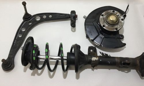 1998-2001 BMW Z3 M Roadster / M Coupe Driver Front Knee Control Arm w/ Shock Spring / 122k / Z3007