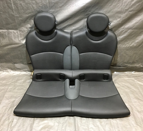 2008-2014 Mini Cooper R55 Clubman Rear Seats / Carbon Black Leatherette / R2011
