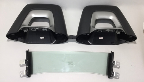 2010-2019 Nissan 370Z Roadster Factory Roll Hoop Covers Trim w/ Windblocker / 7Z004
