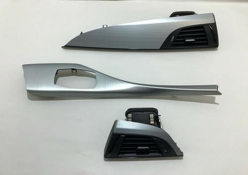 2014-2017 BMW 2 Series Dashboard Console Trim Set / Brushed Aluminum / B2001