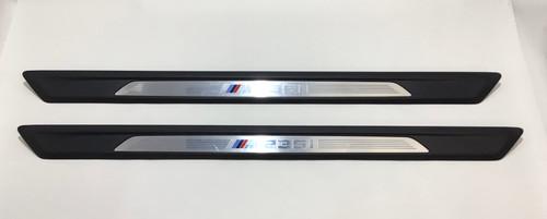 2014-2016 BMW M235i Interior Door Sill Trim Panels / Pair / OEM / B2002