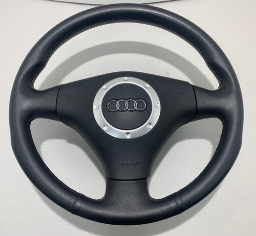 2000-2006 Audi TT Black Leather Steering Wheel W/ Airbag / Manual / T1012