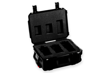 Atlas 3-Lens IP67 Roller Case - A Set foam (40/65/100) with slot for 40mm step-down ring