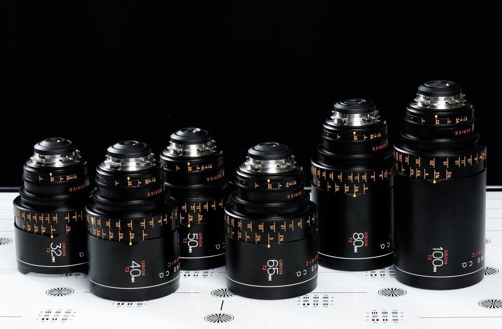 six camera lenses