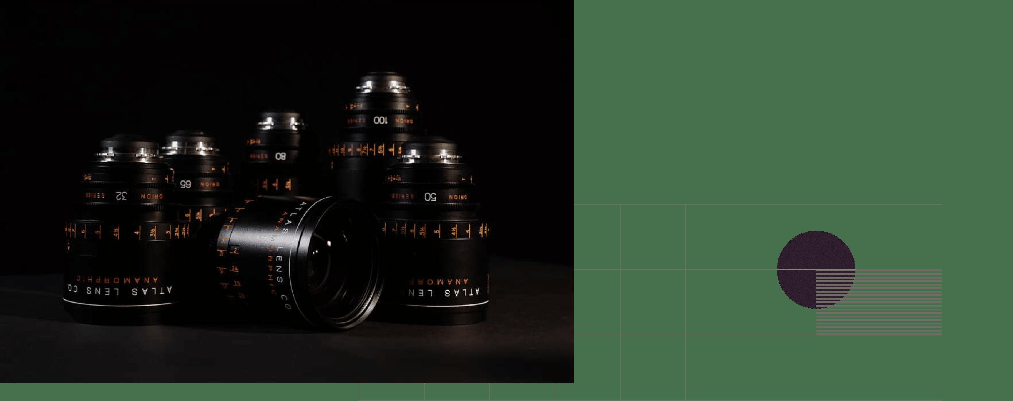 camera lenses with background illustration