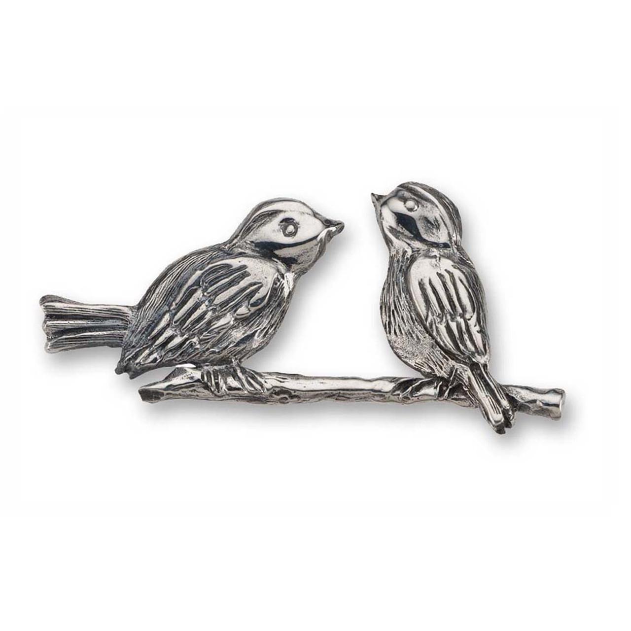 Sterling Silver Lovebirds Pin