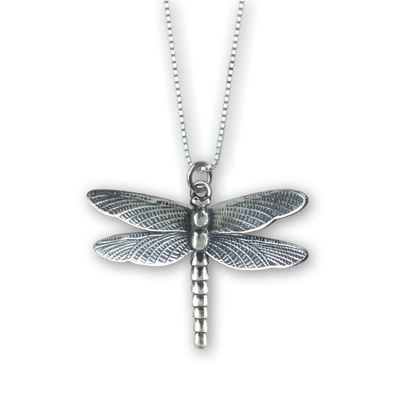 2401d3cb1 Sterling Silver Dragonfly Pendant - JH Breakell & Co.