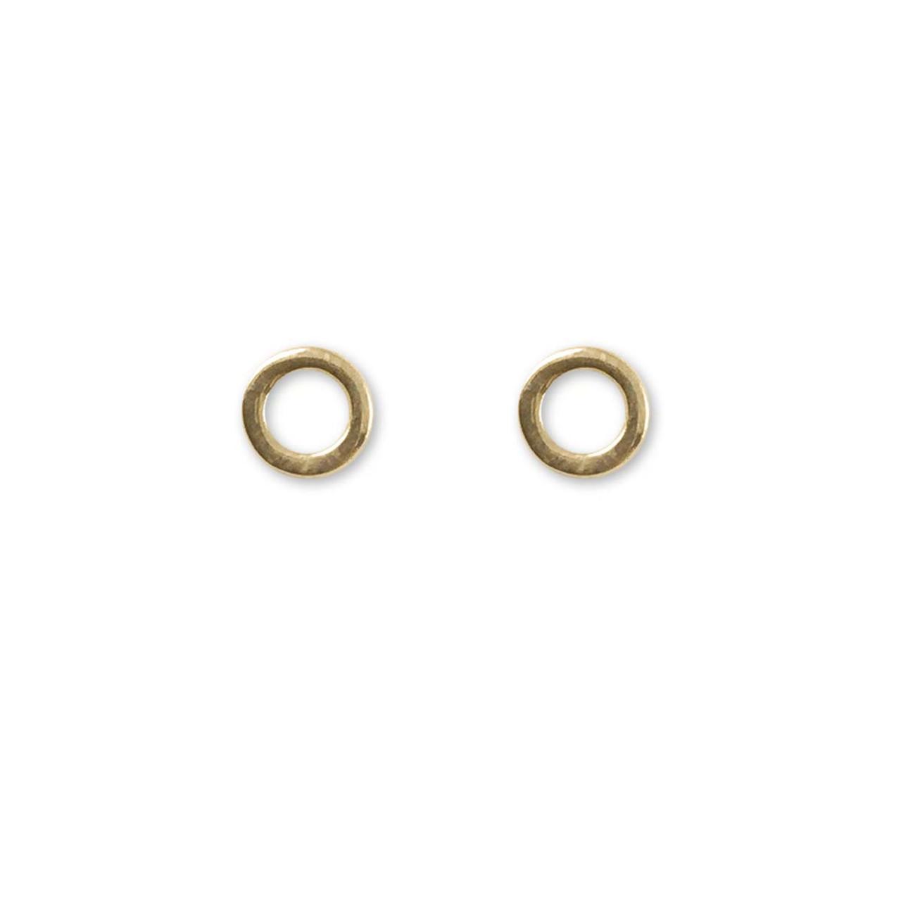 56bb87519 14kt Gold Circle Post Earrings - JH Breakell & Co.