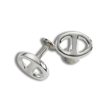 Sterling Silver Money Dollar Sign Cuff Links MSRP $258