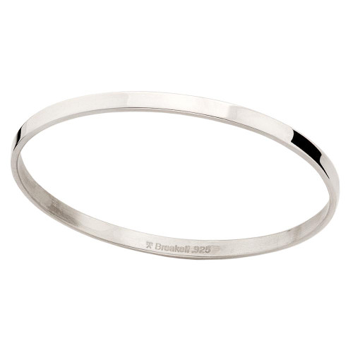 Classic and elegant Sterling Silver Classic Circular Bangle