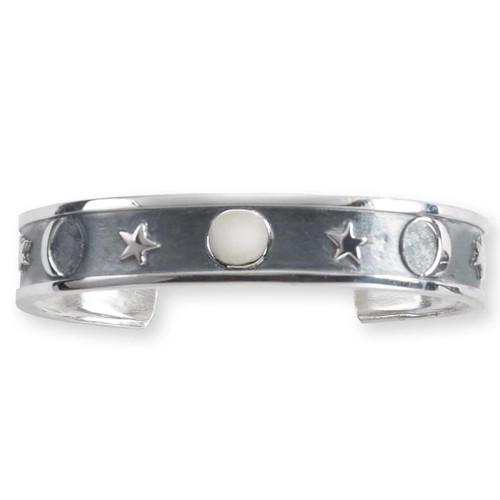 Handmade Sterling Silver Lunar Cuff