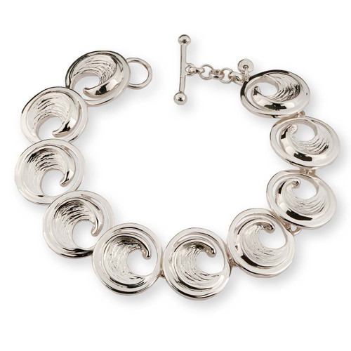 Sterling Silver Perfect Wave Bracelet