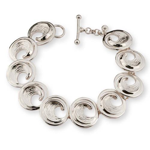 Sterling Silver Perfect Wave Bracelet