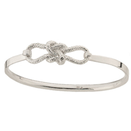 Unbreakable Sterling Silver True Love Knot Clip Bracelet