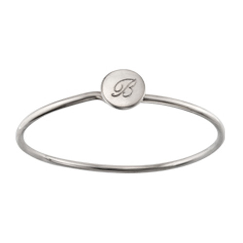 Sterling Silver Personalized Charming Signet Bracelet