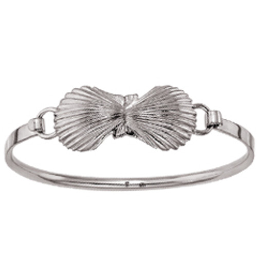 Sterling Silver Small Scallop Shells Clip Bracelet