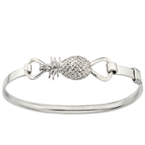 Sterling Silver Pineapple Clip Bracelet