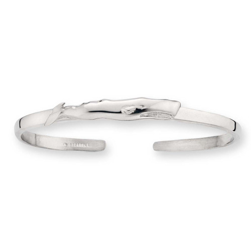 Beautiful Sterling Silver Whale Cuff Bracelet