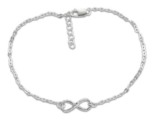 "Delicate Sterling Silver Mini Infinity Bracelet 7 1/2"""