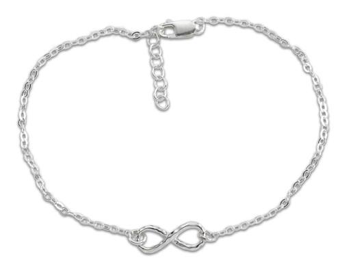 "Sterling Silver Mini Infinity Bracelet 6 1/2"""