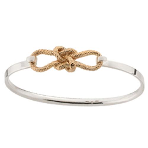 Sterling & 14kt True Love Knot Clip Bracelet