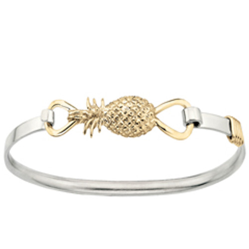 Sterling & 14kt Pineapple Clip Bracelet