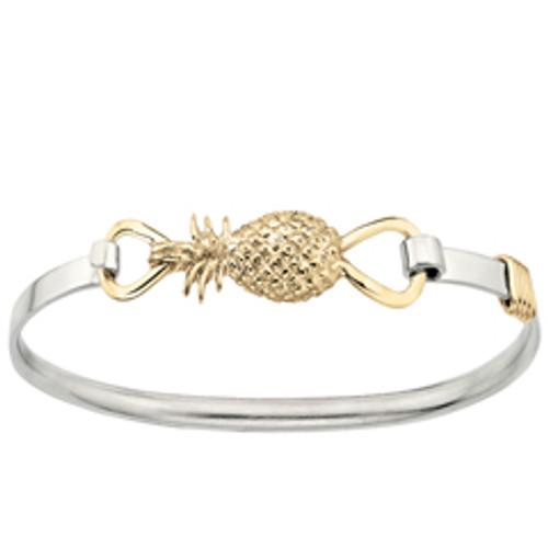 Sterling & 14kt Pineapple Clip Bracelet