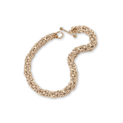 Handmade Ancient Art 14kt Gold Byzantine Bracelet