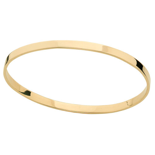 Simple and Elegant 14kt Classic Circular Bangle