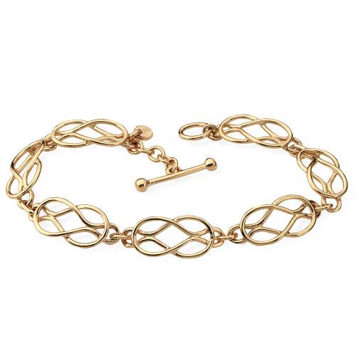 Indvidual woven 14kt Love Knot Bracelet