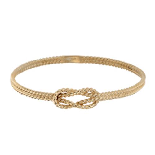 Handmade Classic 14kt Square Knot Bracelet