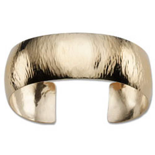 Shimmery with Golden Highlights 14kt Hand Forged Cuff