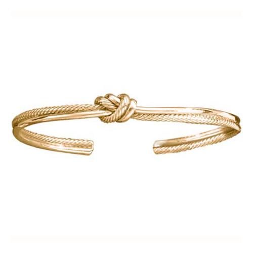 14kt Crew Knot Cuff Bracelet