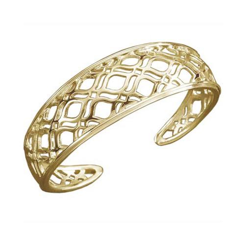 Geomatric Lace Pattern 14kt Persian Lace Cuff Bracelet