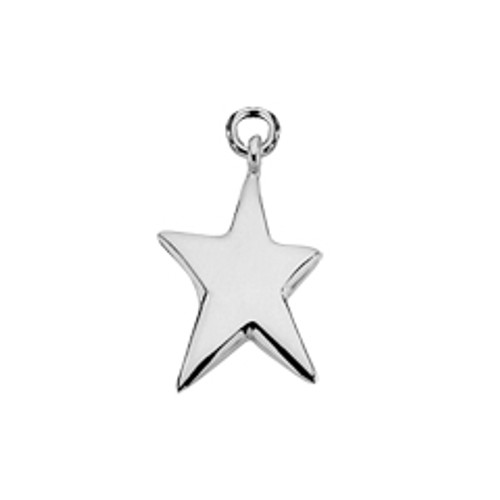 Simple Sterling Silver Shining Star Charm