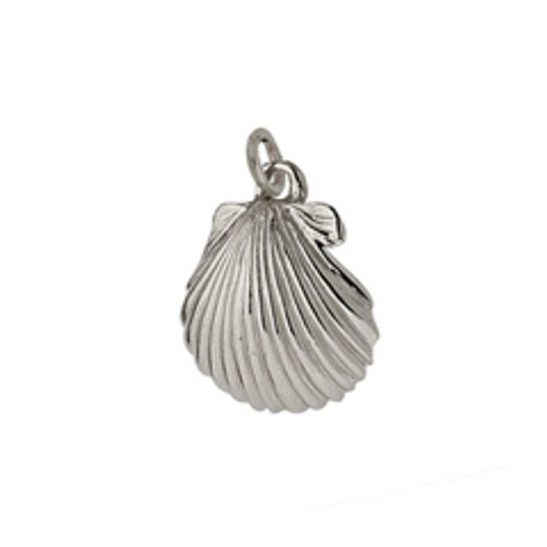 Tiny Beach Wear Sterling Silver Scallop Shell Charm