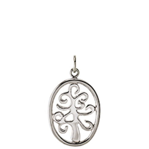 Sterling Silver Framed Tree of Life Charm Symbolize Family's Unbreakable Bond