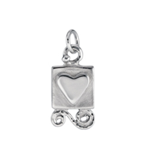 Sterling Silver Gift from the Heart Charm Including Jump Ring