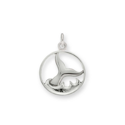 Sterling Silver Whale Watch Charm including Jump Ring